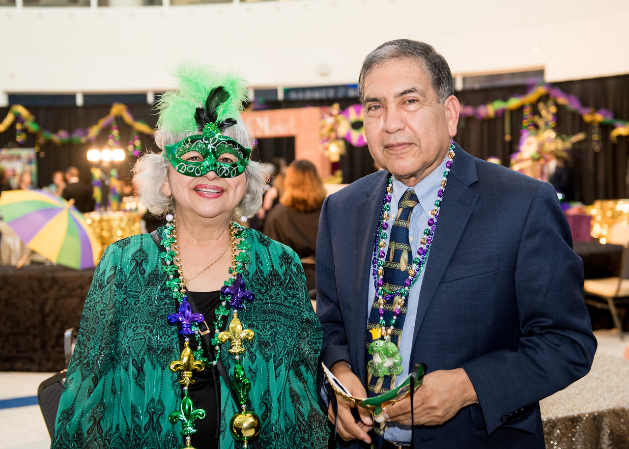 Rosie Vela (left) and Manuel Ortega pose for a photo during President's Ball on March 3rd, 2018 at Texas A&M University - Corpus Christi.
