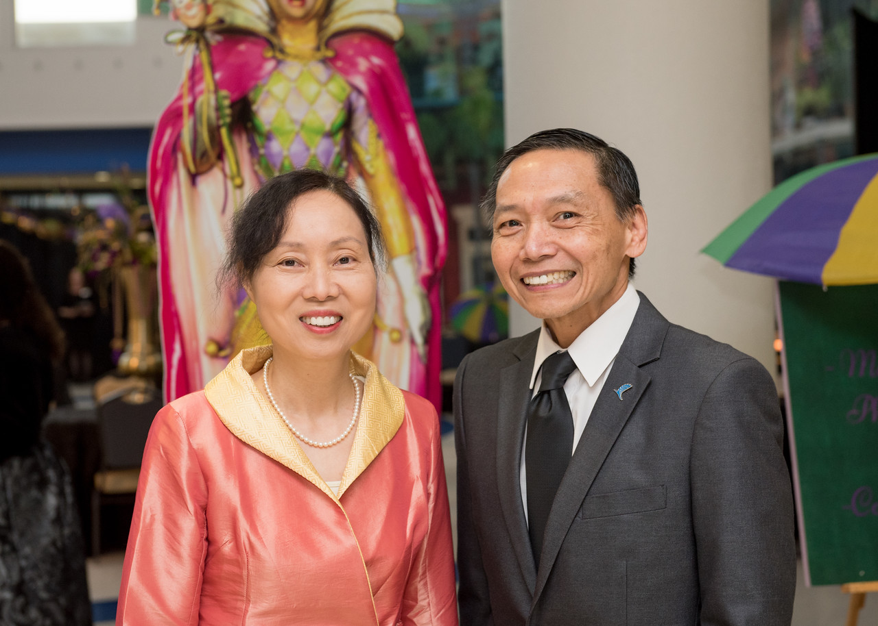 Amy Lee (left) and Jim Lee pose for a photo President's Ball on March 3rd, 2018 at Texas A&M University - Corpus Christi.