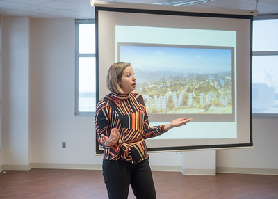 As part of COMM & Media Week, Keynote Speaker Dr. Miranda Banks spoke to students about current and past attempts to diversify the media industries.