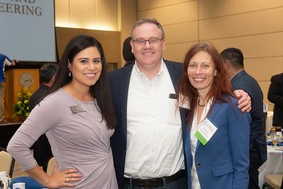 Kimberly Becerra (left), Ian Vasey, and Barbara Szczerbinska.