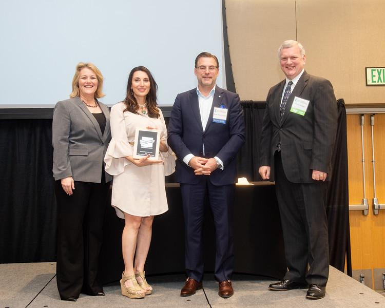 Kelly M. Quintanilla, president and CEO of Texas A&M University-Corpus Christi (left), Barbara Canales, Sean Strawbridge, and Dr. David Bridges.