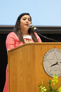 Amanda Sanchez shares her stories from her obstacles achieving her higher education in the engineering field. Friday April 6, 2018 during the Friends of Engineering Luncheon at Texas A&M University-Corpus Christi.