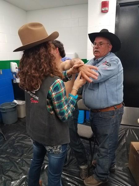 Sean Kendric-Graham Treating  A Rodeo Athlete