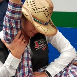 Cayce Marlatt Treating A Rodeo Athlete