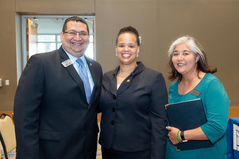 Rito Silva (left), Dr. Clarenda Phillips, and Sandra Martinez.