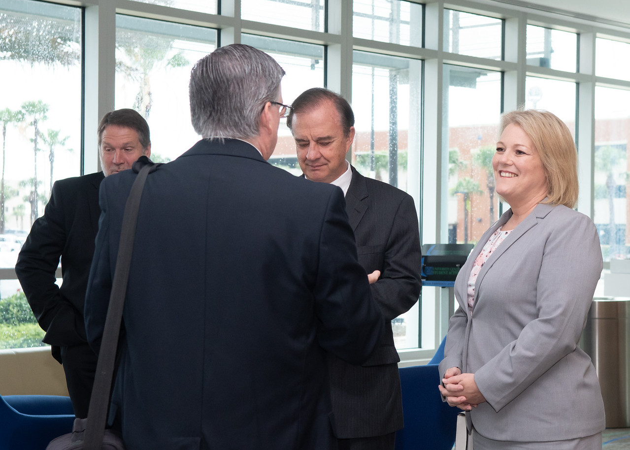 President and CEO of Texas A&M University - Corpus Christi, Dr. Kelly Quintanilla  (right)