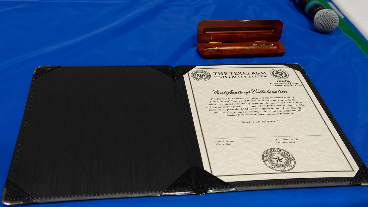Texas A&M University System Certificate of Collaboration