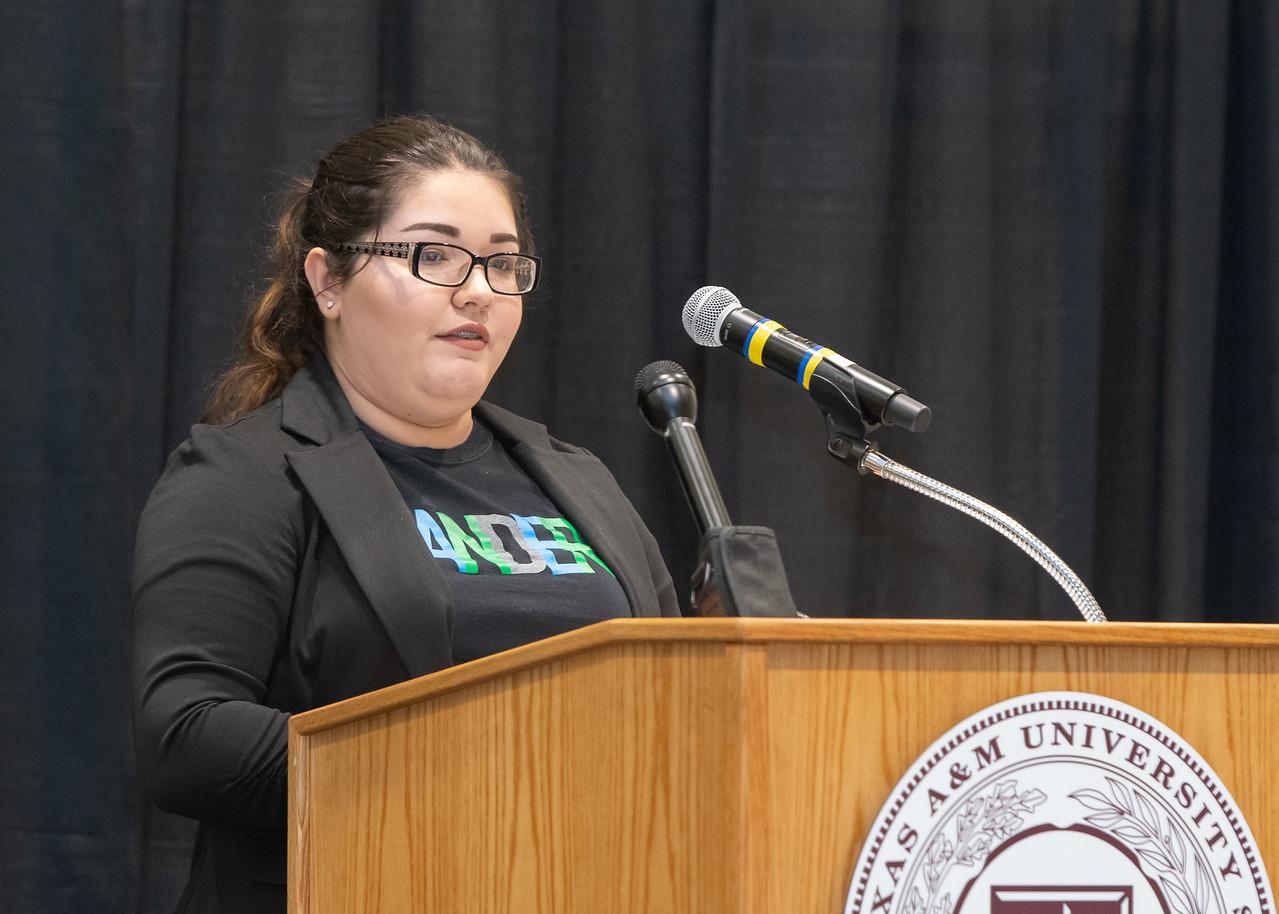 Texas A&M University - Corpus Christi student Aspen Stinson