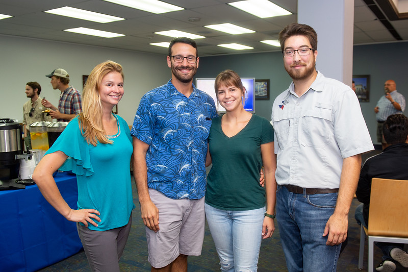 Melanie Gingras (left), Alex Fontes, Jackie Mitchell, and Daniel Martinez