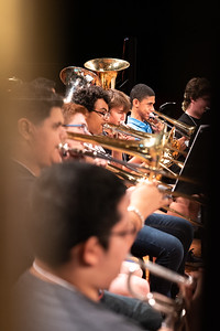 Islander Band Camp students play various pieces during their rehearsal in the Performing Arts Center.