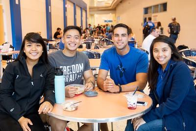 Eden Urbina (left), Vincent Lising, Tyler Hensley, and Tuyet Ho