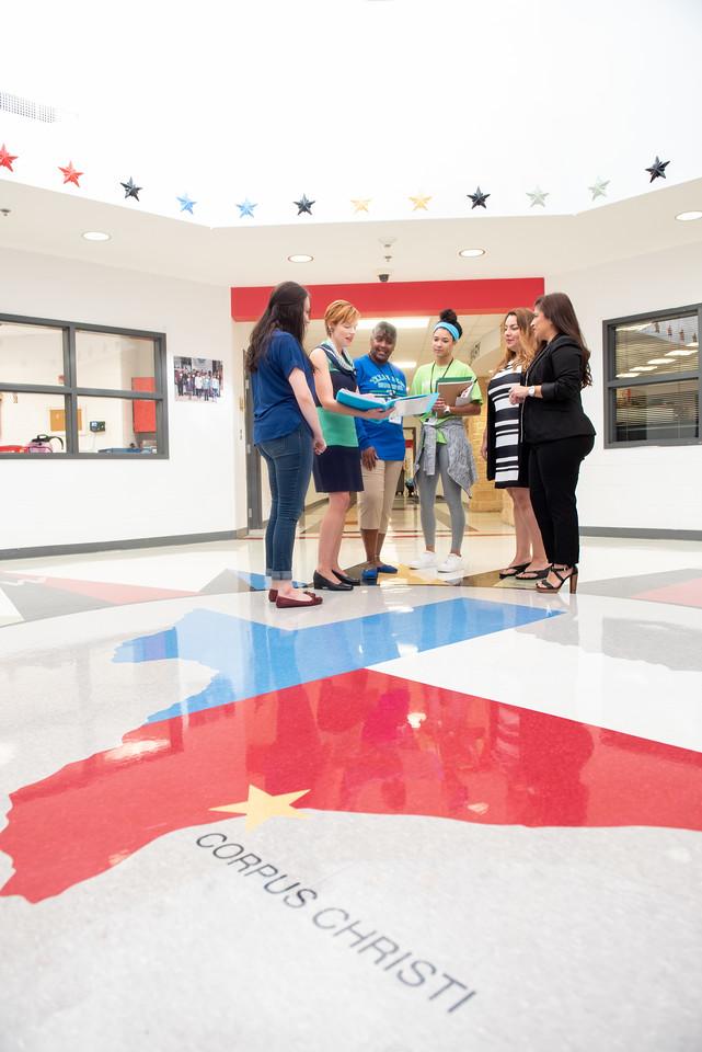 Kaela Mathis (left), Dr.Bethanie Pletcher, Audrey Barnes, Maddie Woods, Roana Rivera, and Marcy Davis.