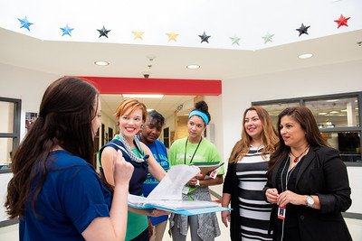 Kaela Mathis (left), Dr. Bethanie Pletcher, Audrey Barnes, Maddie Woods, Roana Rivera, and Marcy Davis.