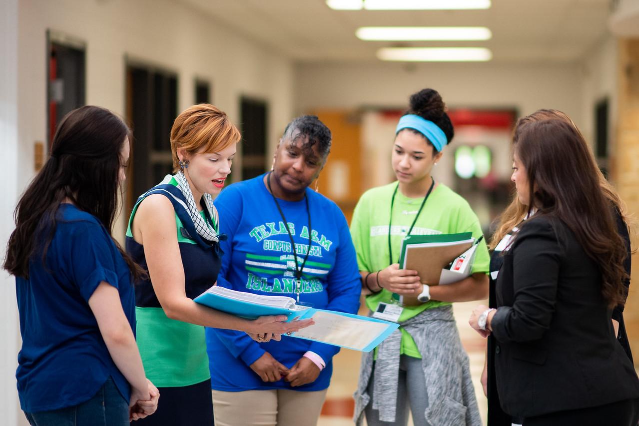 Kaela Mathis (left), Dr. Bethanie Pletcher, Audrey Barnes, Maddie Woods, and Marcy Davis.