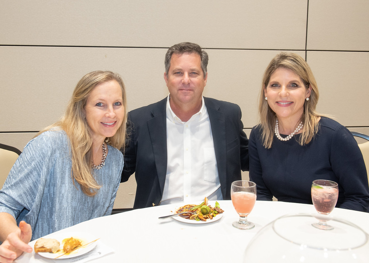 Jennifer Whitehurst (left), Robert Whitehurst, and Renee Cooper during the Fall 2018 Distinguished Speaker Series VIP Reception.