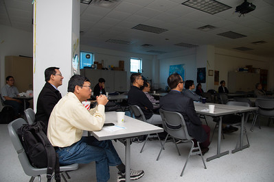 People listening to Pilwon Hur at the 2nd Southwest Asian Symposium.