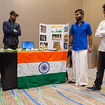 Students at the Food Tasting and Cultural Exhibition at the Anchor Ballroom.