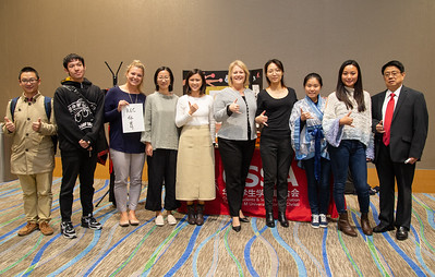 Kelly M. Quintanilla (president) and the Chinese Students and Scholars Association at the Food Tasting and Cultural Exhibition at the Anchor Ballroom.