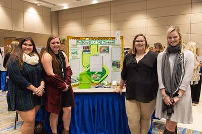 Marianna Rodriguez (left), Brailee Robertson, Jayne-Marie Linguist, and Abby McLain at the Poster Fair.
