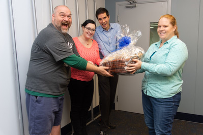 David Smith (left), Yuliana Zaikman, Daniel Maitland, and Amie Cuvelier at the Escape Room.