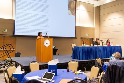 Dr. Zobaida Nasreen speaks at the international speaker event.