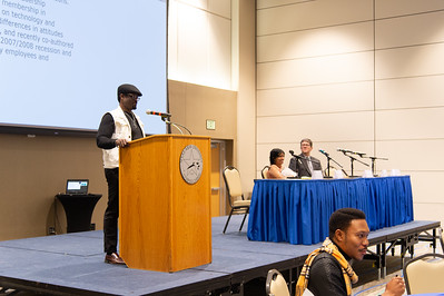 Dr. Bilaye R. Benibo speaks at the international speaker event.