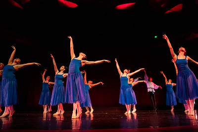 """Ballet I performing """"A Wave of Hope"""" in the fall 2018 Island Dance Demo."""