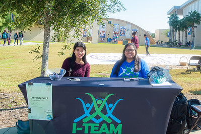 Alyssa Canales(left), and Caroline Luera at the Ladyrinth Walk.