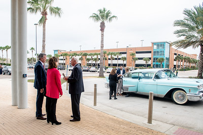 President Emeritus Dr. Robert Furgason and his family arrive to the TAMU-CC Furgason Engineering Building naming ceremony on December 7, 2018 at Texas A&M University-Corpus Christi.