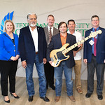 Dr. Nick Adame (2nd on left) with representatives of Texas A&M University-Corpus Christi's CLA music department.