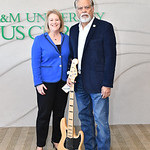 TAMU-CC President Kelly Quintanilla (left), and Dr. Nick Adame.