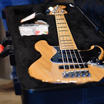Fender American Elite 5 String Bass Guitar donated by Dr. Nick Adame.