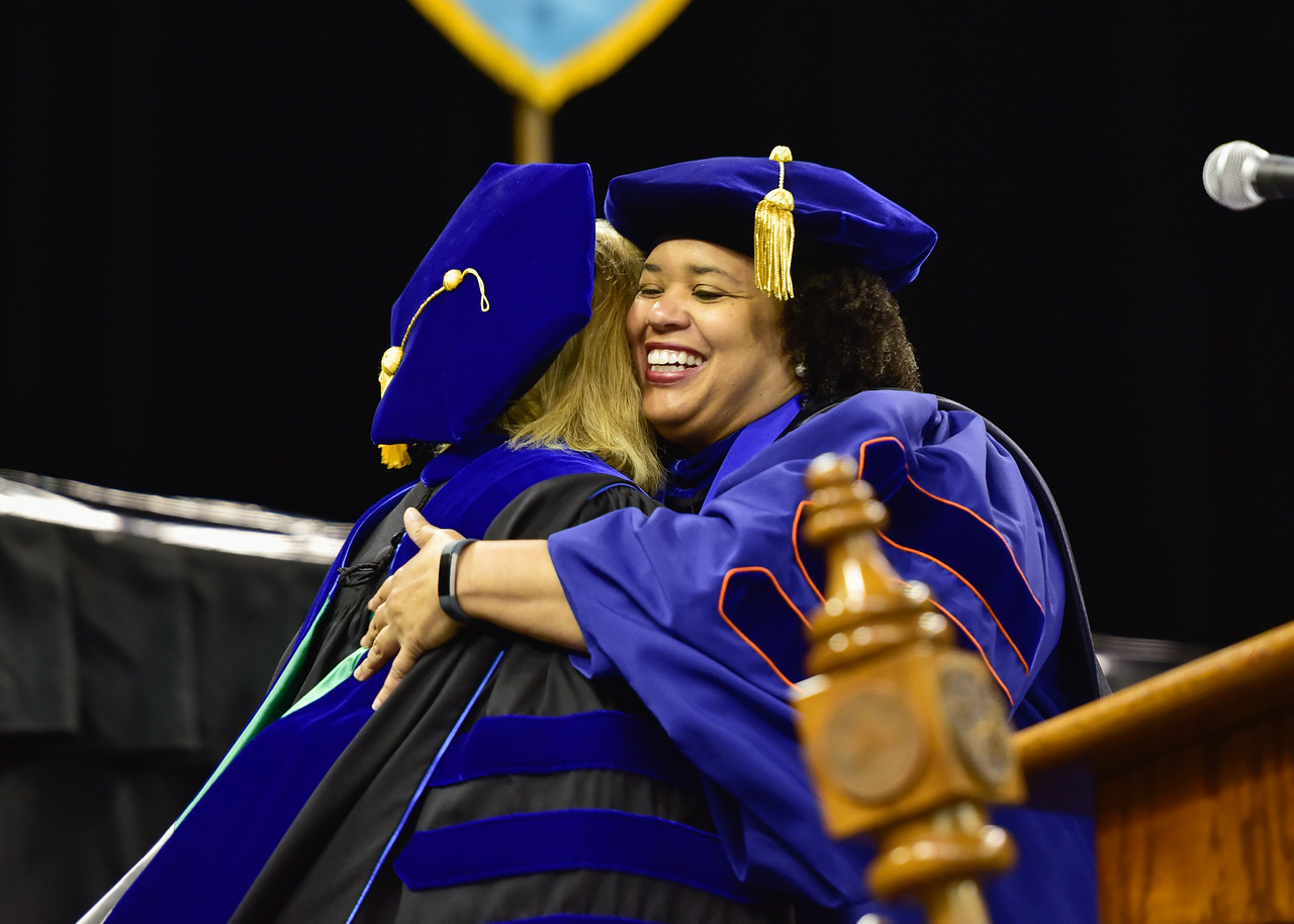 Over 1100 Islanders received their degrees from the university's five different colleges during two Commencement ceremonies held on May 12, 2018.
