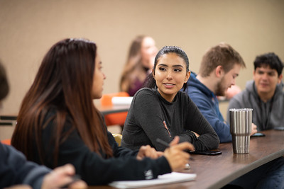Valeria Ruiz during the first day of the Spring 2019 Semester.