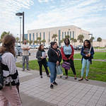 Philippe Tissot welcomes his tour group to Texas A&M-Corpus Christi.