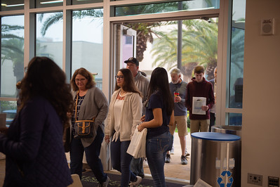 Ambassadors welcome prospective students to TAMUCC.