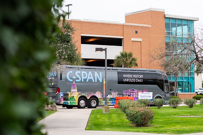 The C-Span Bus Tour makes a stop at Texas A&M University-Corpus Christi on Friday Feb 8, 2019 during homecoming week.