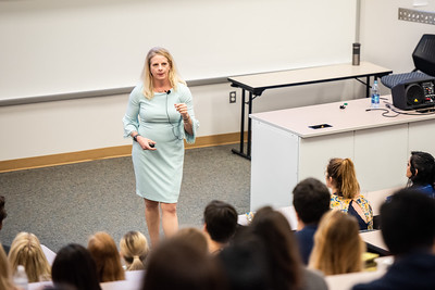 Dr. Rebecca Gill director of the Women's Reasearch Institute of Nevada at the University of Nevada, Las Vegas gives a guest lecture on the #MeToo movement.