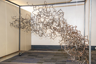 Tangled Metal Sculpture