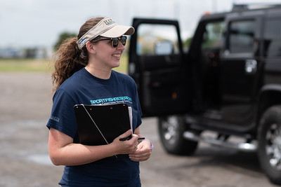 Teresa Bennett, HRI Research Associate collects information during a Creel Survey at Con Harbor Park in Aransas Pass, Tx.