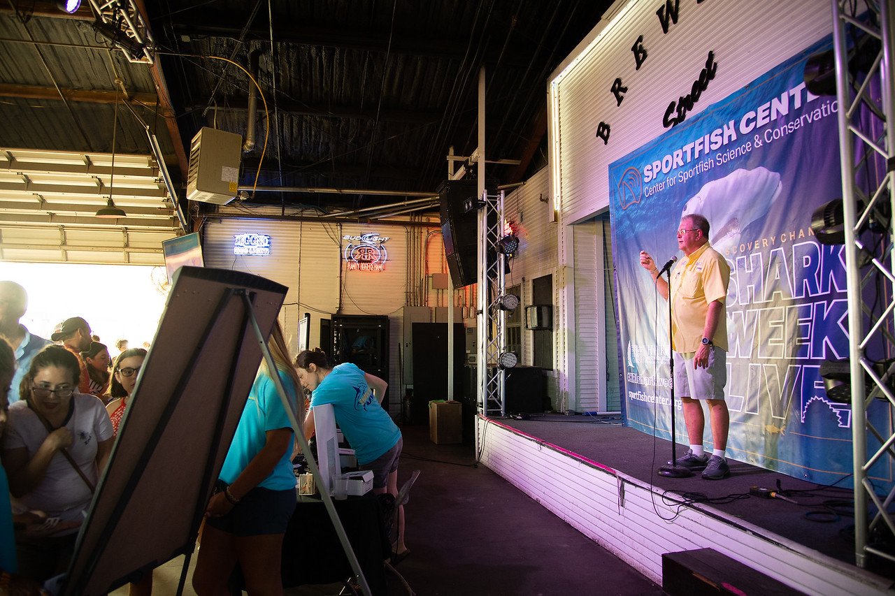 "The Harte Research Institute for Gulf of Mexico Studies (HRI) at Texas A&M University-Corpus Christi hosted their third annual ""Shark Week Live!"" event."