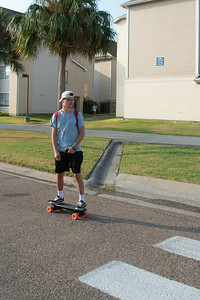 Islander student riding to their first class of the fall 2019 semester.