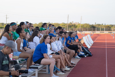 Islander students enjoy the women's soccer game versus UTRGV.