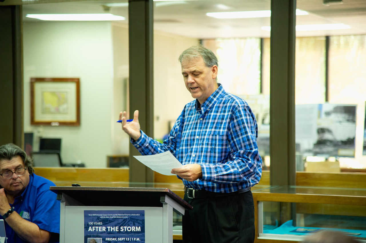 """Dr. Patrick Fitpatrick explains his moderation of the """"100 Years After The Storm"""" forum."""