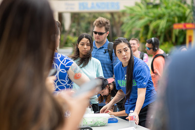 Volunteers from the TAMU-CC campus community lent a hand during the 3rd annual Links Across Campus event. Each link has words of encouragement, or the name of someone lost to suicide. This year the links extended from the University Center to the end of the Breezeway across campus.