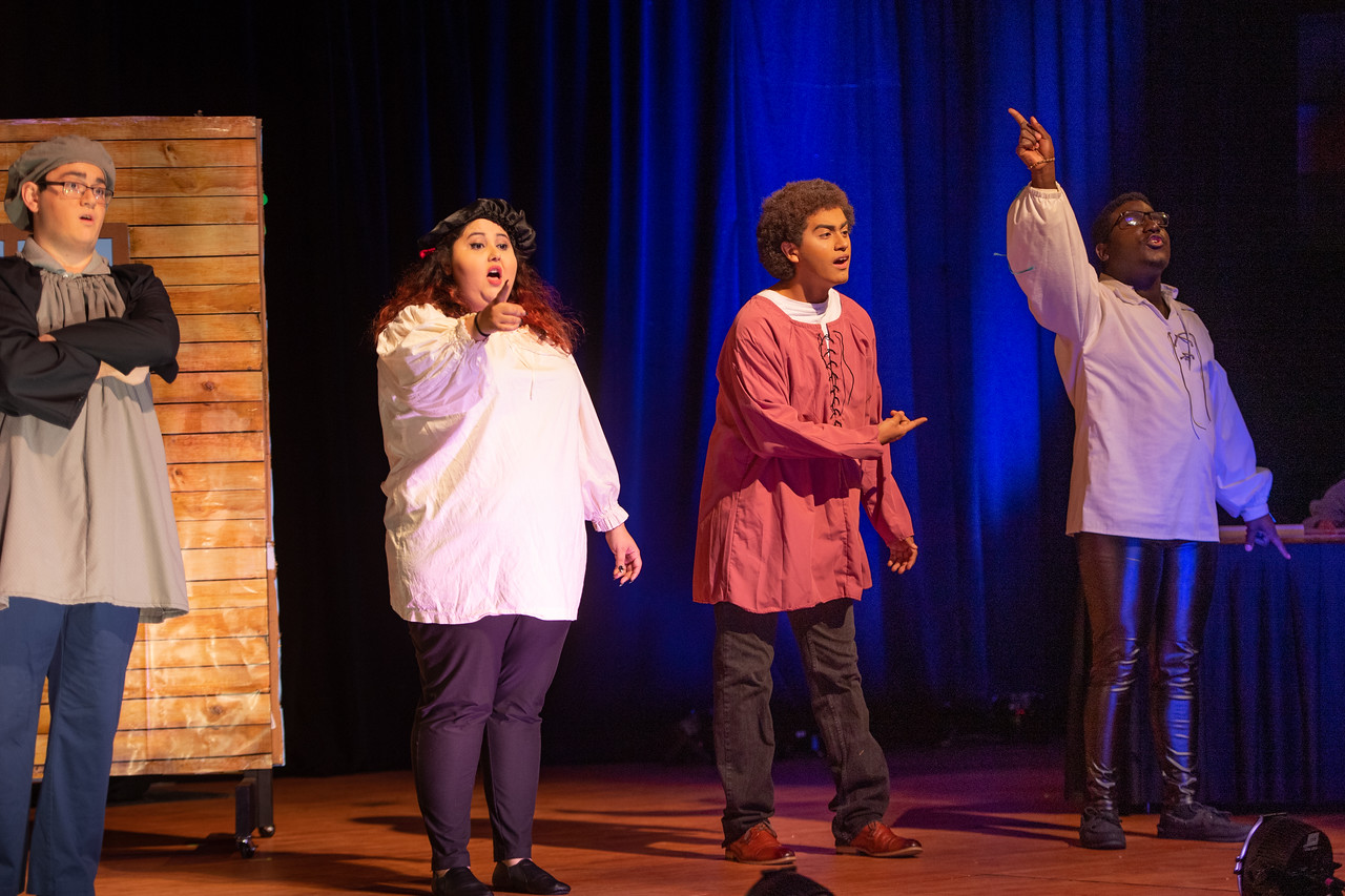 """Opera Workshop students rehearse for their upcoming performance of """"Midsummer Night's Music,"""" directed by Dr. Ellen Denham."""