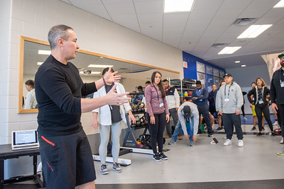 Nick Tumminello leads a workshop on Joint-Friendly Strength Training during the NSCA Midwest Regional Conference at TAMU-CC.