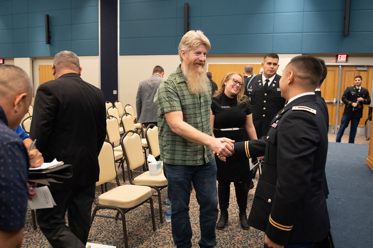 Edgar De La Garza / Texas A&M University-Corpus Christi MARCOM  The Islander Army ROTC at Texas A&M University-Corpus Christi celebrates the commissioning of new second lieutenants. Cadets V ...