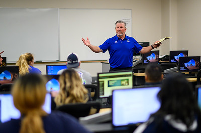 Professor Dr. Randy Bonnette goes over procedures and expectations for his class in the Spring 2020 semester.