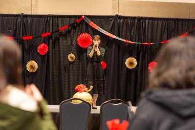 "Ly Nyugen sings ""Tet Xa"" to kick off the celebration."